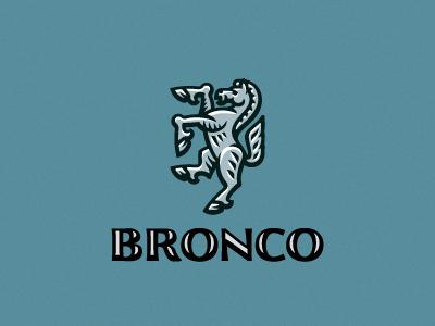 Bronko logo horse mustang bronco