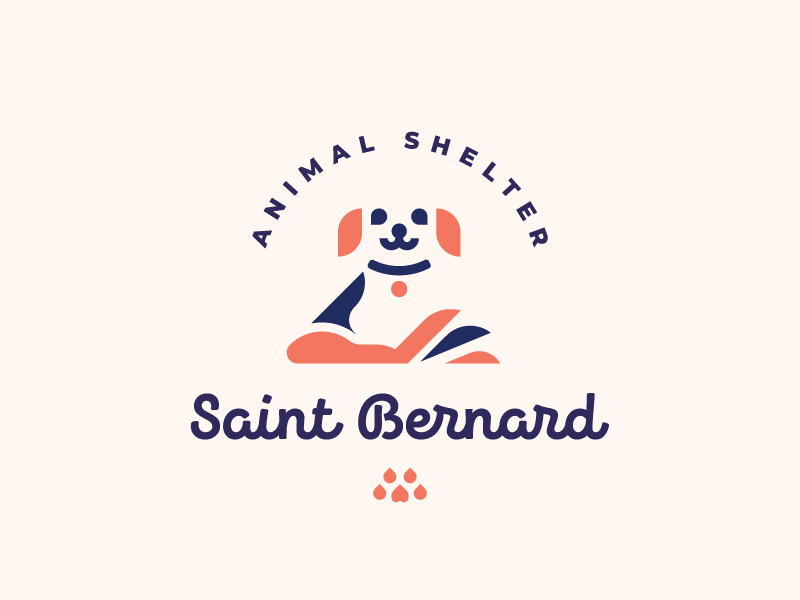 Saint Bernard behance dog logoset logo
