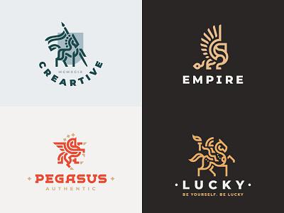 2018 design leo lion horse illustration concept logo