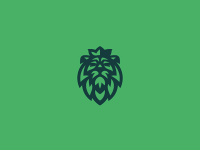 Lion green leon royal concept logo leo lion