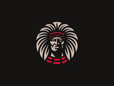 Indian illustration concept logo indians