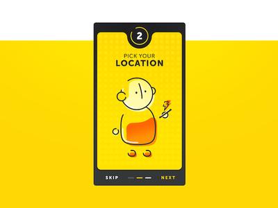 Teleportation App - Onboarding Screen