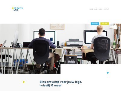 New website design for kreativlab green ann studio blue green kreativlab web design