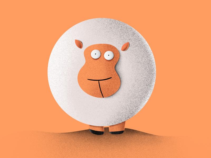Fat Sheep ipad procreate sheep character design design illustration