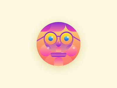 Profile Avatar - Flushed Face vibrant modern profile avatar profile avatar icon icon weird fun funny emoji gradients shapes unique simple avatar design design avatar