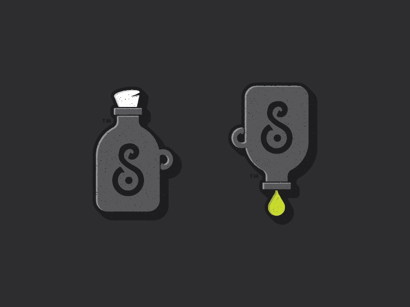 Bottles illustration type bottle