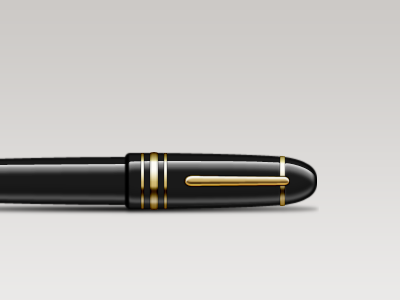 Fountain Pen final icon illustration gold pen filler