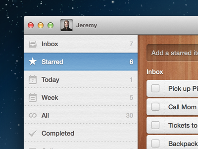 Wunderlist 2 designs, themes, templates and downloadable