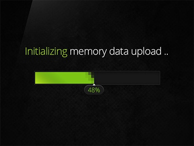 Modern Loading Screen modern loading screen green pixel memory loader percent ux