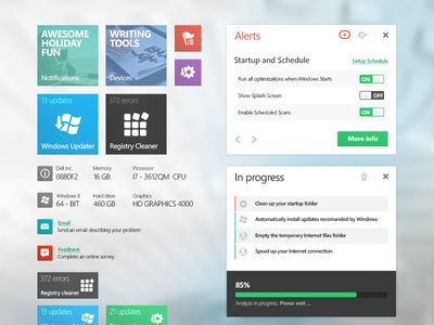 Modern UI Tiles & Dialog Boxes