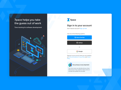Sign In Page form developers github time track responsive minimalist modern onboarding signin ui