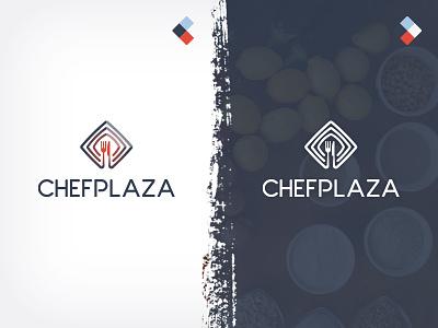 Logo for Chef Community and Service chef logo design cook chefplaza community branding identity market
