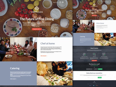 Chefplaza Landing Page landing page homepage ui cooking layout web design food chef catering design