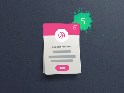 @5x Dribbble Invitations  draft invite cards free prospects giveaway invitations dribbble