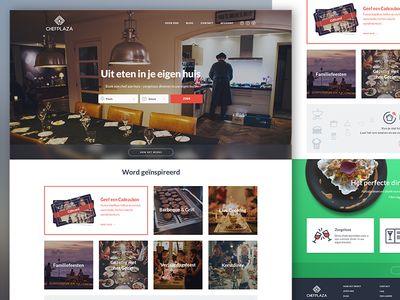 Chefplaza Landing Page 2015 design catering chef food web design layout cooking ui homepage landing page