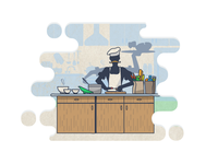 Factotum Chef Illustration