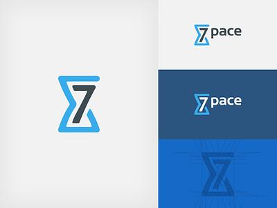 7pace Logo Concept number concept illustrator colors logo presentation symbol branding