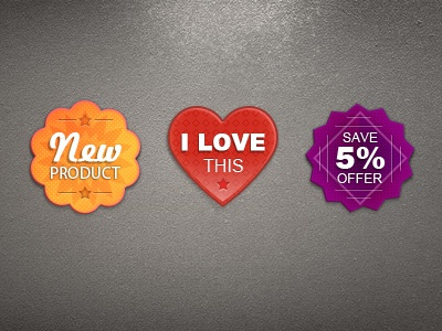 Not So Tiny Badges by Alex Lupse on Dribbble