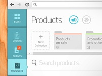 Products UI Dashboard