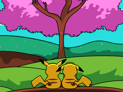 Pikachu Date pokemon art anime fan art pikachu pokemon vector illustrator illustration design character 2d