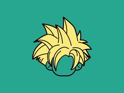 Teen Gohan japan super saiyan ultra instinct saiyan super teen gohan gohan shonen anime human mascot flat 2d geometric flat character-design vector illustrator illustration design character 2d