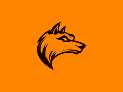 Wolf orange dog wild artwork animal art icon artwork icon design icon animal wolf flat 2d geometric character-design vector illustrator illustration design character 2d