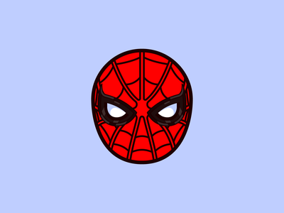 Spiderman cartoon marvel comics marvelcomics hero marvel spiderman super hero superhero bold icon design icon flat flat 2d geometric character-design vector illustrator illustration design character 2d