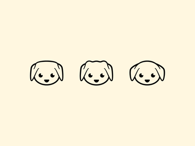 Dog logo Ideas branding flat 2d geometric dog illustration dog head logodesigner animal logodesign dog logo bold icon design icon character-design vector illustrator illustration design character 2d