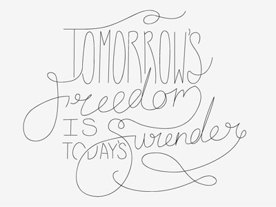 Freedom/Surrender wip all sons and daughters lettering freedom phrase lyrics wip sons