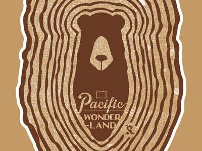 Pacific Wonderland bear wood tree rings pacific wonderland oregon