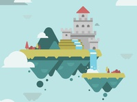 Floating Castle Vector Experiments