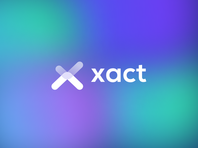 xAct Logo - NFT project check icon x symbol x letter clean digital design letter brand branding gradient mark icon logo blue