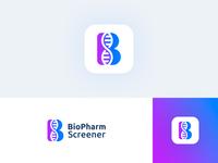 DNA + B mark logo for biotech startup