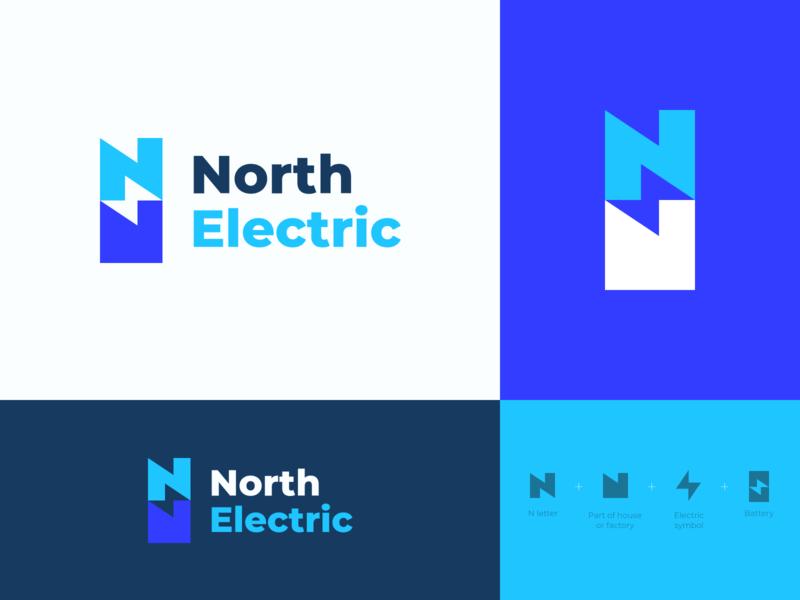 North Electric Logo Concept by Aleksandr Scorolitnii on Dribbble