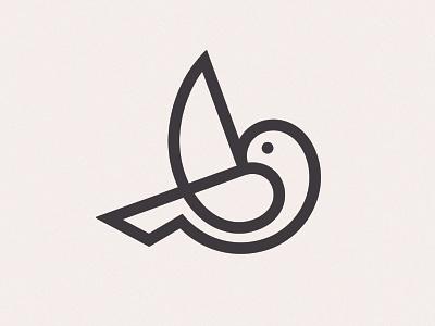 Bird Version 2 simbol mark logo line bird