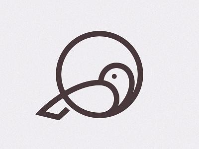 Bird Version 3 simbol mark logo line bird