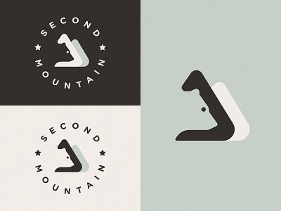 Logo for Second Mountain Version 2 design illustration vector negative space mark logo symbol bear mountain