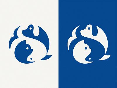 Pets vector design branding illustration negative space mark symbol logo fish bird