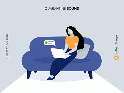 Quarantine Sound hangouts mail notification animation lockdown quarantine adobe art illustration