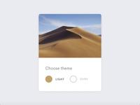 Mojave Theme Widget