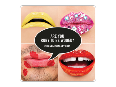 MAC Lipstick Ruby Woo lips visual design social media design makeup new launch lipstick billboard design billboard campaign design teaser campaign teasers teaser beauty campaigns campaign photoshop illustration typography branding design