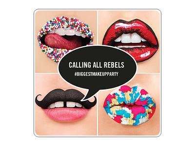 MAC Lipstick Rebel makeup beauty social media design lipstick billboard design new launch teaser campaign design campaigns campaign typography branding illustration photoshop design