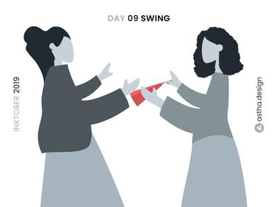 Inktober Day 09 Swing