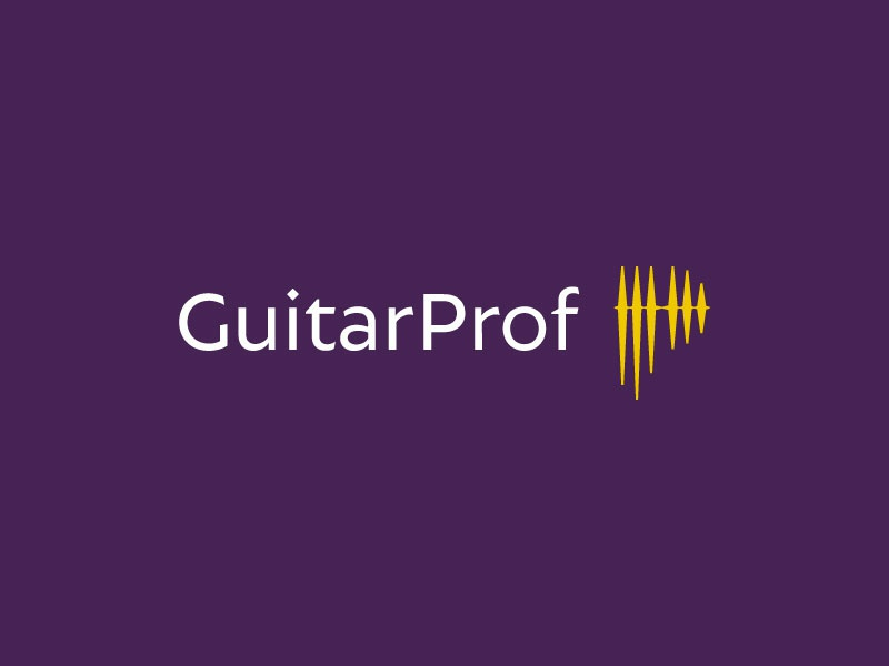 Guitar Prof education letter p sound waves music electric guitar