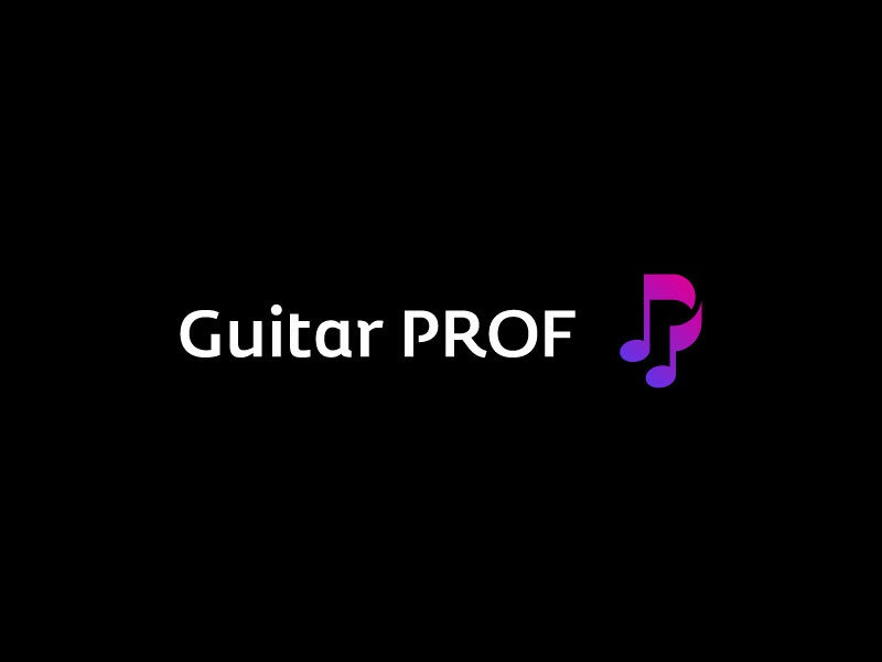 Guitar Prof education musical note letter p electric guitar