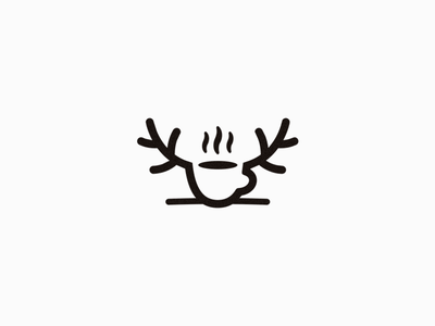 Hot Moose coffee logodesign logomark mark coffee cafe symbol hot moose logotype logo