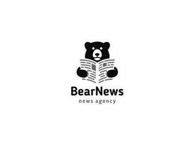 BearNews designlogo minimal logotype logo news bear