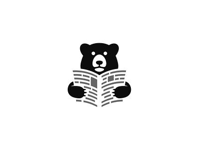BearNews mini symbol news bear logotype logo mark