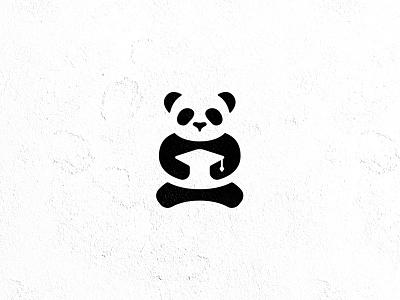 Academician panda designlogo logotype academic mark logo panda
