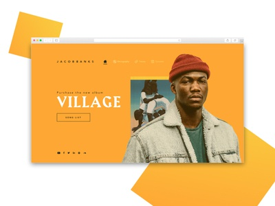 Simple Landing Page - Jacob Banks